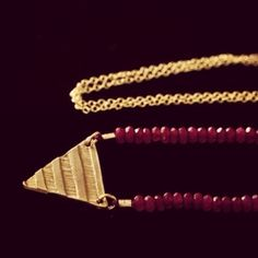 Pyramid Scheme With Stones Necklace
