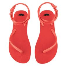 Fleeps Ruby Red Sandal. Our versatile, stylish sandal that impacts the world in Ruby Red.