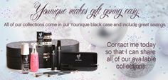 """Younique Make-up, Try it, you will love it! Welcome to the """"Virtual Make-up Spa Party""""! Would you like to hostess a party but don't have time, or a large enough home are your friends are all over the Country. Book a """"Virtual Make-up Spa"""" party with me and receive FREE prizes & bonuses! or Join my Team and have your own Make-up party business. So many ways to sell and earn residual  income!!"""