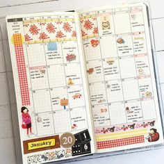 """The first month view in my Hobonichi weeks - This, being my ""fun planner"", I…"