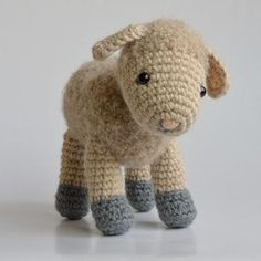 Sofie and Lucie little lambs amigurumi crochet pattern by Little Wooly Creations