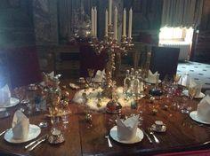 An informal table setting at Blenheim