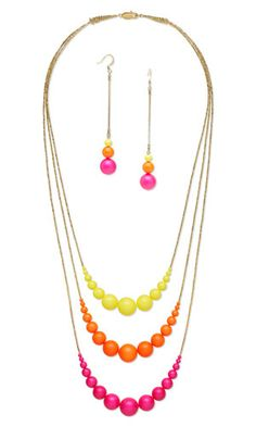 Triple-Strand Necklace and Earring Set with SWAROVSKI ELEMENTS and Gold-Plated Brass Beads - Fire Mountain Gems and Beads
