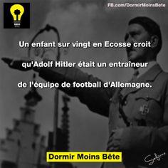 Un enfant sur vingt en Ecosse croit qu'Adolf Hitler était un entraîneur de l'équipe de football d'Allemagne.