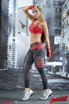9eaa0d4cae5ac DareDevil - Super Hero Leggings - Fiber - Roni Taylor Fit - 1 Cheap  Athletic Wear