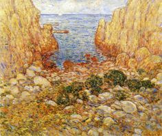 """""""The Gorge - Appledore, Isles of Shoals"""", Childe Hassam, 1901, oil on canvas, 25.25 x 30.25"""", Private collection."""