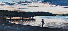 Koen Vermeule  'Lake' oil on canvas, 85x180cm 2016