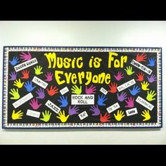 Music Is For Everyone Bulletin Board Idea