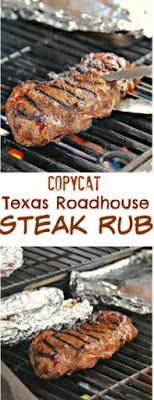 A simple combination of ingredients from this classic steakhouse that will bring. - A simple combination of ingredients from this classic steakhouse that will bring out the best flavo - Grilling Recipes, Beef Recipes, Cooking Recipes, Cake Recipes, Vegan Recipes, Beef Tips, Healthy Grilling, Smoker Recipes, Meat Rubs