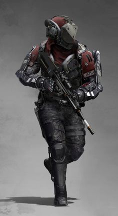 ATLAS Elite by AlexJJessup on DeviantArt - sci-fi cyborg soldier in battle armor Cyberpunk Character, Cyberpunk Art, Chasseur De Primes, Advanced Warfare, Futuristic Armour, Sci Fi Armor, Future Soldier, Super Soldier, Armor Concept