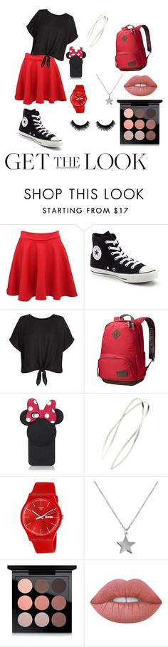 """""""Mini mouse (under $150)"""" by scuvicki2015 ❤ liked on Polyvore featuring Pilot, Converse, Jack Wolfskin, Kate Spade, Mrs. President & Co., Swatch, Belcho, MAC Cosmetics and Lime Crime"""