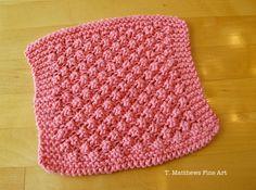 T. Matthews Fine Art: Free Knitting Pattern - Raspberry Baby Washcloth