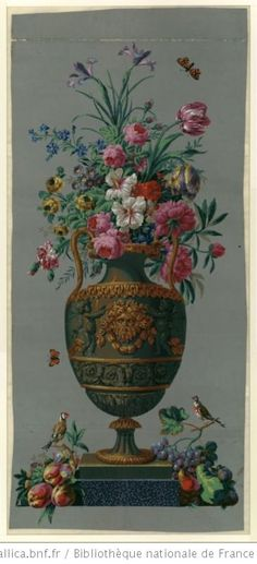 Fifteen Gardening Recommendations On How To Get A Great Backyard Garden Devoid Of Too Much Time Expended On Gardening Joseph-Laurent Malaine 1798 Mural Painting, Mural Art, Wall Art, Decoupage, Art Floral, Chinoiserie, Grisaille, Hand Painted Furniture, Art For Art Sake