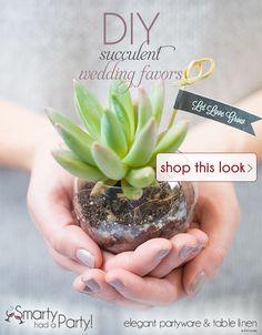 Shop Succulent Wedding Favors DIY Inspiration Idea from SmartyHadAParty.com