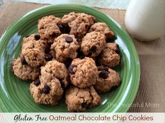 Gluten Free Oatmeal Chocolate Chip Cookies - Yumminess from the Peaceful Mom