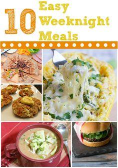 10 easy weeknight meal ideas