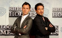 There is no such thing as too much RDJude  Robert Downey Jr and Jude Law as Sherlock and Watson