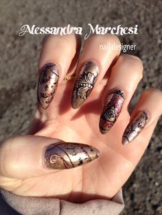 All Seying eye Nail Art by Alessandra Marchesi nail designer, featured on Love Nails magazine.