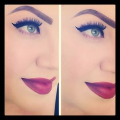 So pretty.  Cannot master this brow!
