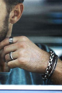 Man about town in sterling silver style by David Yurman | Jewelry & Style for Men #SterlingSilverDavidYurman