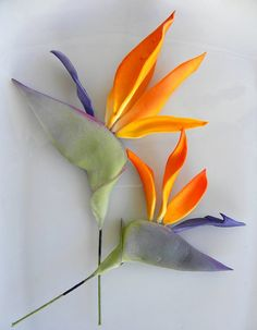 Flowers & Food in One!! Birds of Paradise 3.5 inches - Fondant Flowers