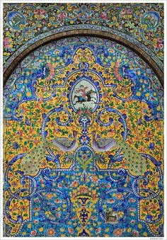 prince-marolo:    tiles at Golestan Palace  Thank you  rendan & prince-marolo.