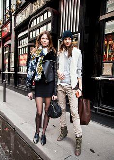 Bette Franke & Kendra Spears (in) Model's Street Style