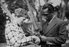 1935 Amelia Earhart  and Duke Kahanamoku