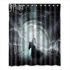 Marauder Live Map Pattern Shower Curtain Polyester Multi-size 12 Hooks