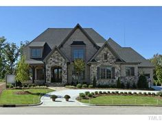 Renaissance, Lot 30 « Galleries « Parade of Homes Features Stone Exterior Houses, Dream House Exterior, Stone Houses, Dream Home Design, My Dream Home, House Design, Future House, Luxury Homes Dream Houses, House Elevation