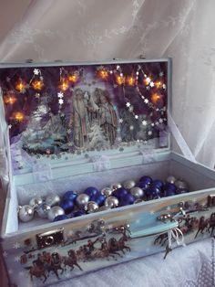 """Купить Чемодан для ёлочных игрушек """" Зимний бал"""" - Новый Год, новогодний подарок"""