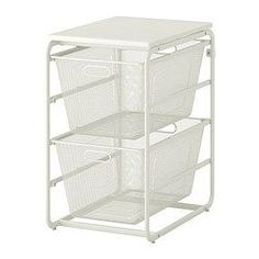 """IKEA """"ALGOT"""" Storage Series - Frame with 4 mesh baskets/top shelf. Lots of other options available. Ikea Algot, Clothes Storage Systems, Ikea Closet, Hall Closet, Sink Organizer, Ikea Us, My Home Design, Up House, Closet Organization"""