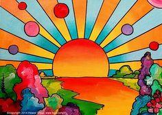 Pop art sun - howie green