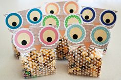 owl treat bags... or you could even use them (without the bags) as mini sized invitations