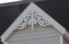 Gable pediments victorian work holiday folkloric gable for Gable decorations home depot