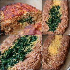 Turkey Meat Loaf stuffed with Cheese and Spinach