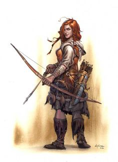 ranger, women, fantasy, woman, archer, fighter, warrior, guard, barbarian, bow, arrows