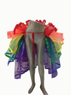 Rainbow-TuTu-Tail-Ruffle-GAY-PRIDE-DIVA-SHOWGIRL-BURLESQUE-Moulin-Rouge-costume