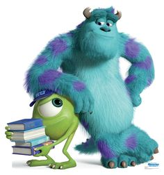 Life-size Mike and Sulley - Disney Pixar Monsters University Cardboard Standup that stands 61 inches tall and 57 inches wide. Free standing and comes with an easel back that easily folds up. Life Size Cutouts, Life Size Cardboard Cutouts, Monsters Ink, Disney Monsters, Sully Monsters Inc, Walt Disney, Disney Pixar, Disney Magic, Disney Art