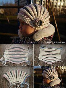 Crochet ideas that you'll love Beanie Knitting Patterns Free, Baby Hats Knitting, Loom Knitting, Knitting Designs, Free Knitting, Knitted Hats, Diy Crafts Knitting, Diy Crafts Crochet, Crochet Baby