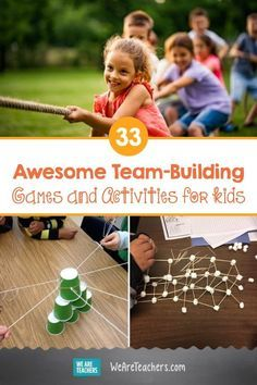 Team Building Activities For Adults, Team Games For Kids, Games For Kids Classroom, Activities For Teens, Building For Kids, Kids Team Building Games, Team Building Icebreakers, Youth Games, Group Games