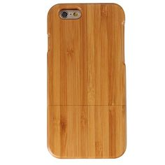 Genuine Real Natural Wood Bamboo Hard Cover Case For Apple iPhone 6 / 6s 4.7 Inch