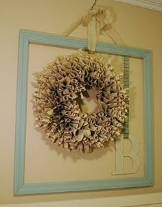 Empty frame with wreath