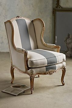Sophie Wing Back Bergere   Antique Wingback Chair, Upholstered Wingback  Chair, Wingback Chair