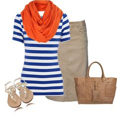 """""""casual"""" by marloleck on Polyvore. Like the color combo on the shirt Nd scarf"""