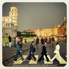 PisaConnection celebrating 100,000 tweets reached! It's a long way from #AbbeyRoad! #Beatles #music #Pisa #Tuscany #Italy