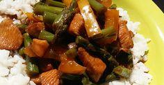 Ázsiai pikáns csirkemell szójaszósszal, zöldségekkel