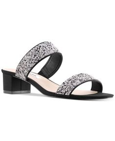5cd0ad64afd Nina Georgea Rhinestone-Encrusted Slide Sandals - Black 5M. main image.  Fashion Summer Shoes Women Casual Sandals Gladiator ...