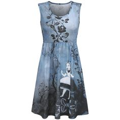"Walt Disney Medium-length dress, Women ""Alice in Wonderland"" blue • EMP"