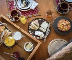 Déjeuner du Gîte de la Fromagerie Cassis et Mélisse www.chaudiereappalaches.com